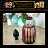 SOLD! - (ANTIQUE) RARE FRENCH BACCARAT CRANBERRY PERFUME CUT TO CLEAR RED BOHEMIAN GLASS BOTTLE - (ONE OF A KIND)
