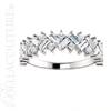 (NEW) BELLA COUTURE ® BALISIMMA 14K White Gold Baguette & Princess Cut 1CT Diamond Eternity Pave Set Ring Band (The Perfect Anniversary Gift!)