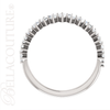 (NEW) BELLA COUTURE ® BALISIMMA PLATINUM™ Baguette & Princess Cut 1CT Diamond Eternity Pave Set Ring Band (The Perfect Anniversary Gift!)