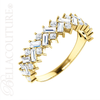 (NEW) BELLA COUTURE ® BALISIMMA 14K Yellow Gold Baguette & Princess Cut 1CT Diamond Eternity Pave Set Ring Band (The Perfect Anniversary Gift!)