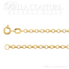 """(NEW) BELLA COUTURE DEANA Gorgeous 14K Yellow 2.5mm Wide Rolo Link Charm Bracelet (7"""" Inch)"""
