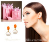 (NEW) BELLA COUTURE FINE SOUTH SEA PEARL & CORAL EARRINGS in 14K Yellow Gold