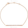 """(NEW) BELLA COUTURE ZOE Pave' Sapphire 14K Rose Gold Bar Necklace with Chain ~ 18"""""""