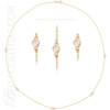 """(NEW) BELLA COUTURE La FIORA FINE 1/4 CT DIAMOND 14K YELLOW GOLD CHAIN BEZEL-SET NECKLACE 18"""""""