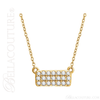"""(NEW) Bella Couture CARA Gorgeous Brilliant 1/6CT Diamond 14k Yellow Gold Fancy Rectangle Pendant Necklace (18"""" Inches in Length)"""