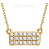 """(NEW) Bella Couture CARA Gorgeous Brilliant 1/6CT Diamond 14k Rose Gold Fancy Rectangle Pendant Necklace (18"""" Inches in Length)"""