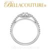 (NEW) BELLA COUTURE Gorgeous Brilliant 1/2CT Diamond PLATINUM Ring