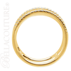 (NEW) BELLA COUTURE JOLIE Fine Elegant 1/5CT Pave' Diamond Double Band 14K Yellow Gold Ring