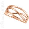(NEW) BELLA COUTURE VIOLA Fine Elegant Organic Woven 14K Rose Gold Ring