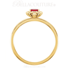 (NEW) BELLA COUTURE Le ROSA Fine Gorgeous Ruby Pave' Diamond 14k Yellow Gold Ring