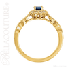 (NEW) BELLA COUTURE BARDO Fine Gorgeous Blue Sappire Pave' Diamond 14k Yellow Gold Ring