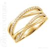 (NEW) BELLA COUTURE ALIA Fine Diamond Organic Woven 14k White Gold Ring