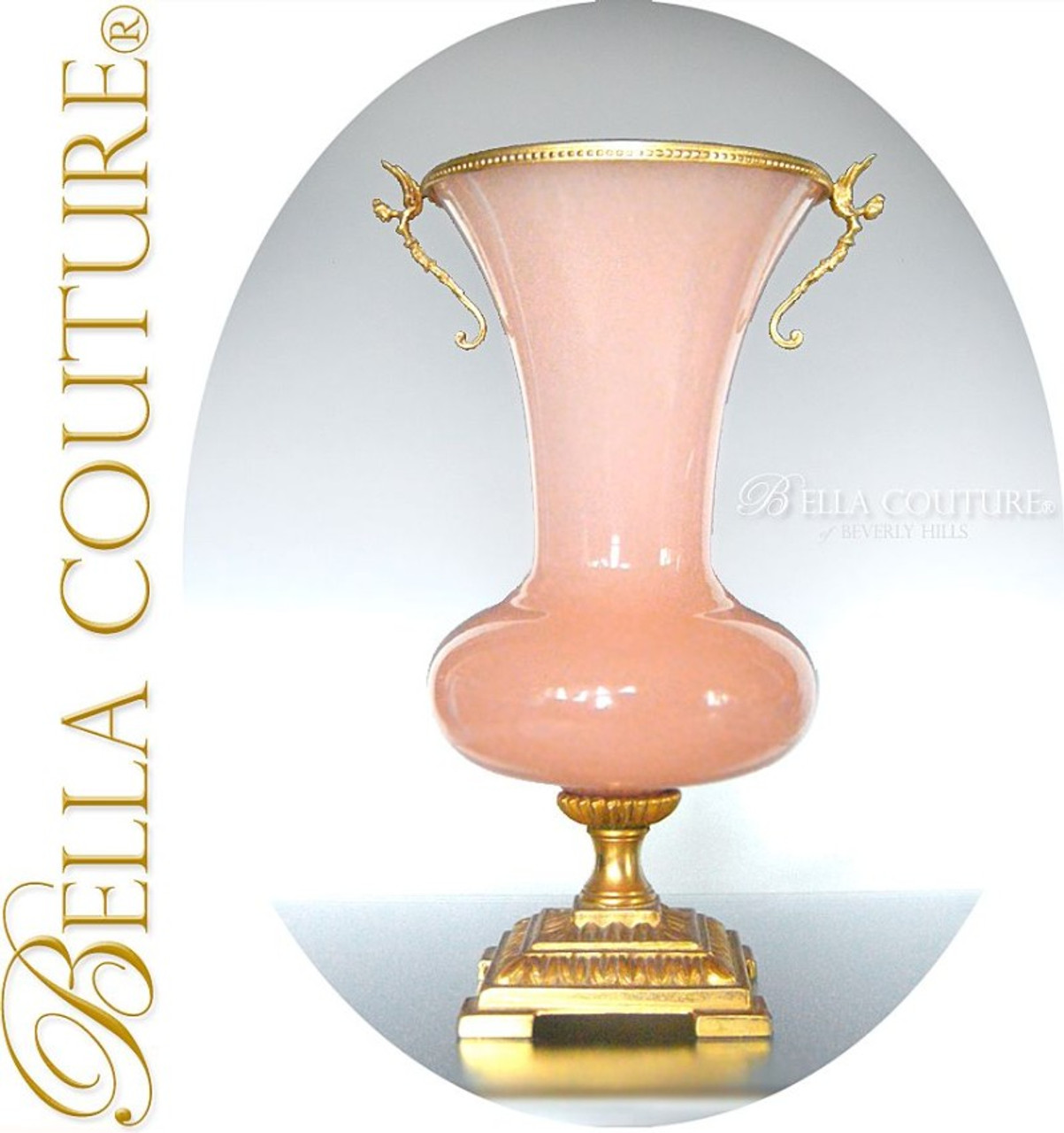 Sold Antique Palais Royal Empire French Pink Opaline Ormolu