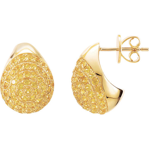SOLD OUT! - (NEW) Bella Couture Bordeaux Fine Yellow SAPPHIRE Collection Earrings in 14K Yellow Gold