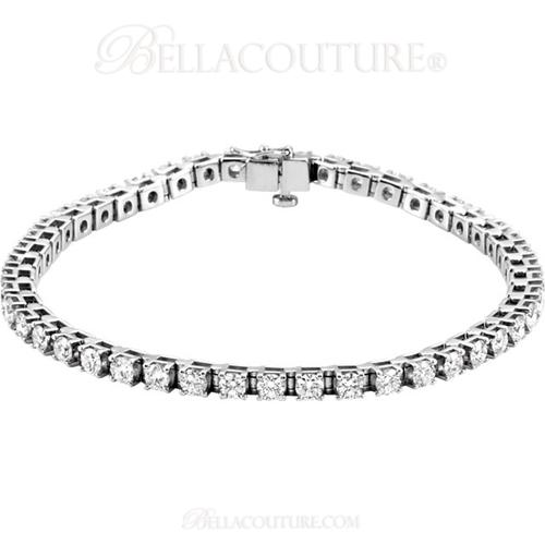(NEW) BELLA COUTURE Gorgeous 4 & 1/2 CTW Diamond PLATINUM Tennis Bracelet