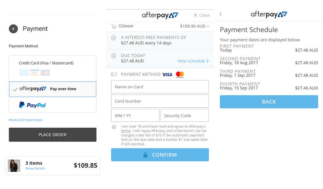 Afterpay - buy now pay later is now available at checkout