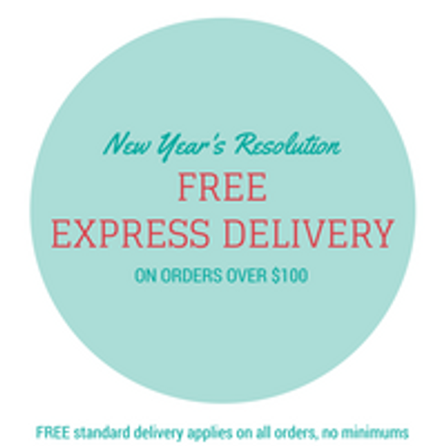 Free Express Shipping over $100