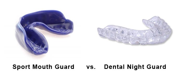 sport mouth guard vs dental night guard