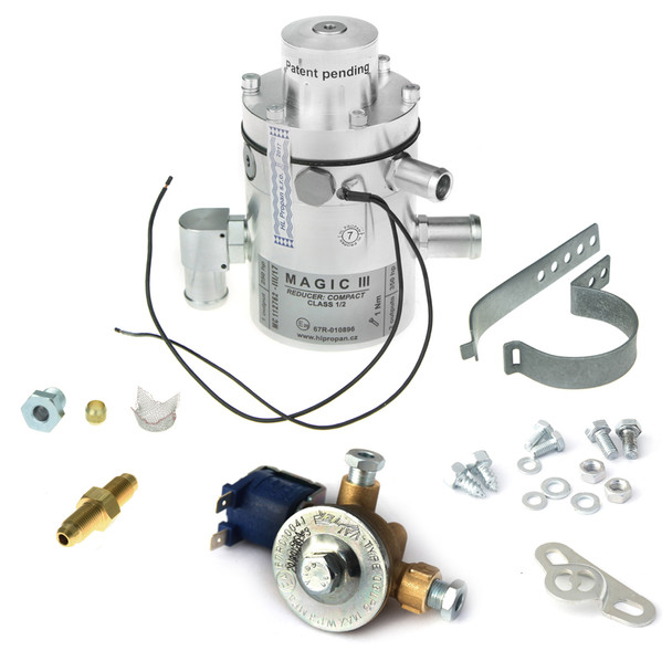 magic iii compact reducer vaporizer autogas lpg hlpropan with 6mm electrovalve solenoid and m10 nipple