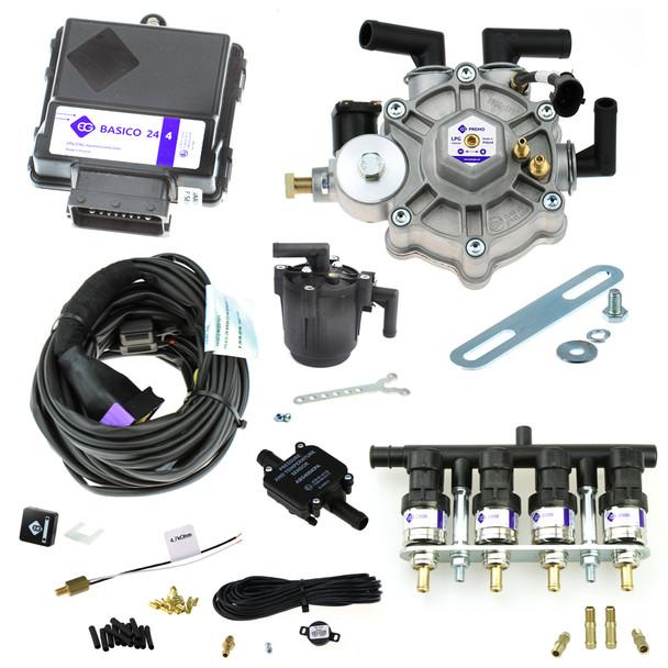 europegas basico 24 premo 170hp reducer eg2000 injectors autogas lpg conversion kit
