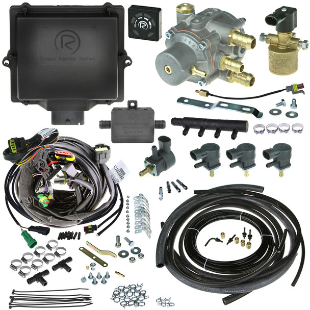 Romano Antonio DI 4 cylinder injection system autogas LPG conversion kit with reducer injectors and all accessories full