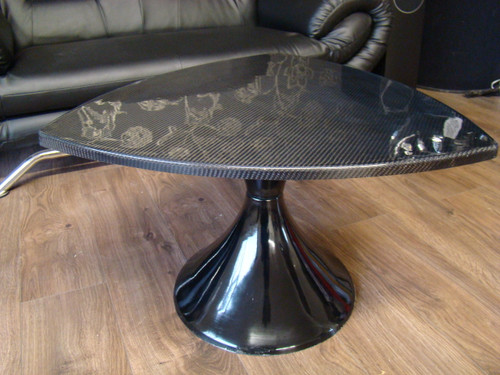 1960`s Tulip Style Small Coffee Table Carbon Fibre