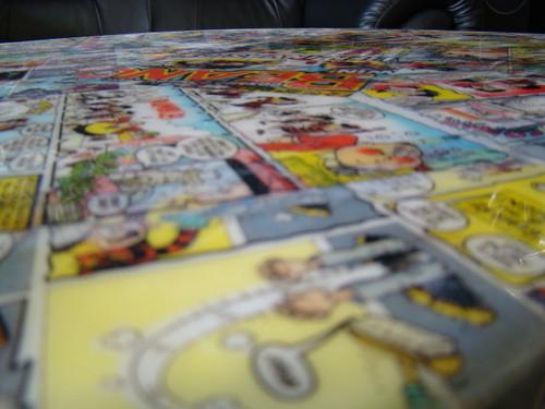 Retro Comic Book Table