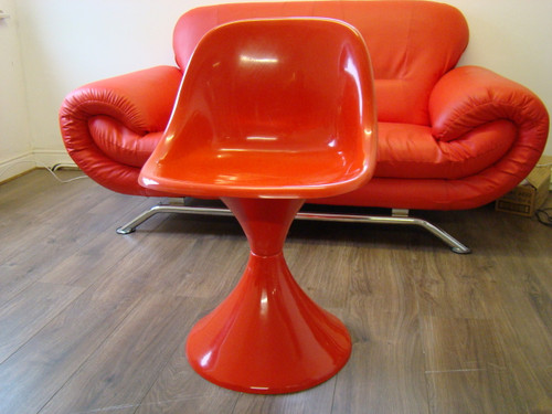 1960`s Style Tulip Chair in RED