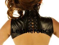 Real Leather Extreme Shoulder Corset Hals Korsett Harness Binder