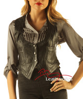 Soft Leather Fashion Waist Coat Ladies Waistcoat WC1