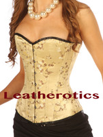 Ivory Overbust Steel Boned Tight lacing Corset
