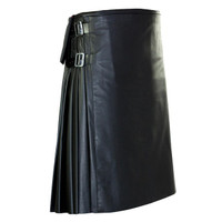 Stunning Full Grain Leather Kilt Pleated Scottish Kilt5 Cowhide