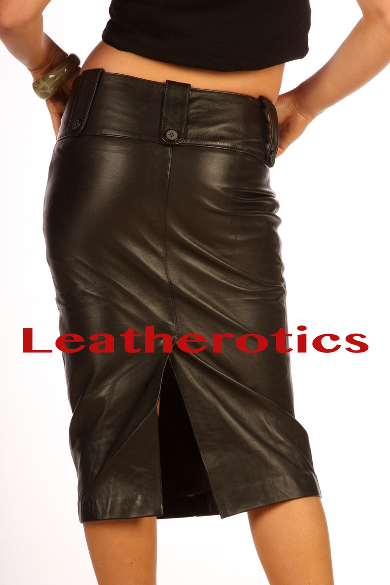 Black Leather Skirt Tight Pencil Skirt Skirt For Tall