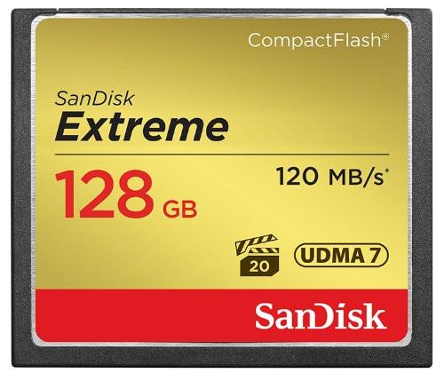 SanDisk 128GB Extreme CompactFlash Card, SDCFXSB-128G-G46