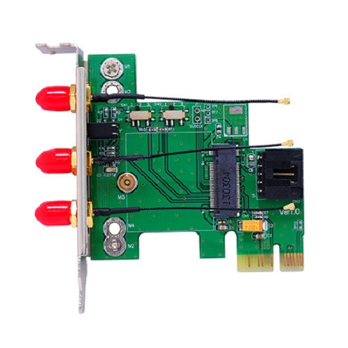 Bplus M2P2H-7260 : M.2 Wireless Card to PCI Express Adapter, 2.4/5.0 GHz with Intel wireless AC 7260NGW / 7260NGWGR card