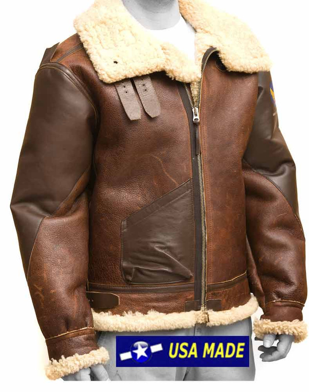 Pearl Harbor B3 Bomber Jacket 100% Shearling Made in USA
