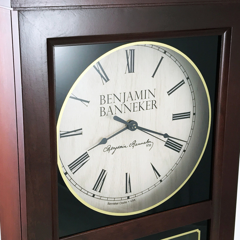 This Benjamin Banneker Clock features a replica Banneker signature on the face