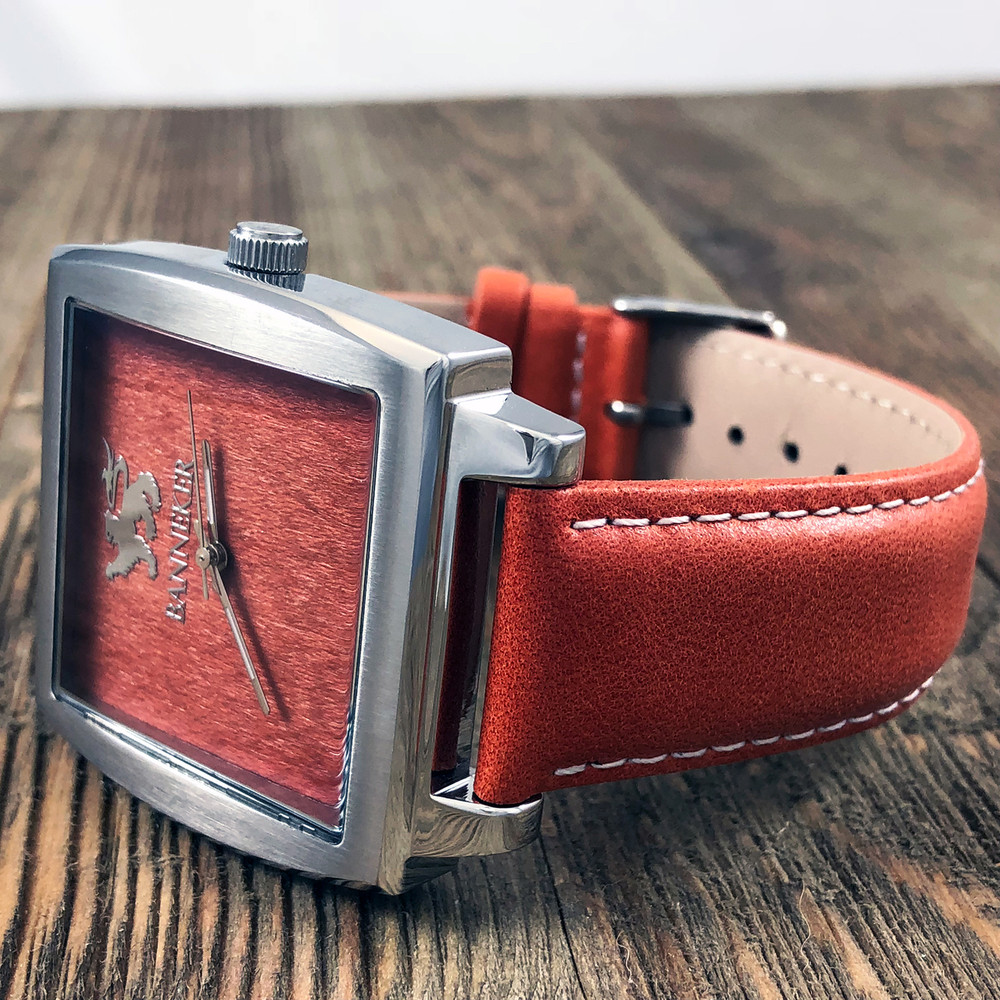 This Banneker watch is guaranteed to provoke conversation and inspire awe among your family, friends, and co-workers.  Real wood grain is unique so no two Ballers are exactly the same.