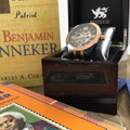 Some of our Favorite Banneker Books shown alongside the 1753.  All Banneker Watches comes with a Wooden Box and are packaged in a White Gift Box.  If you don't know the history of Benjamin Banneker look for the great Banneker books by Charles A. Cerami and Laura Baskes Litwin.