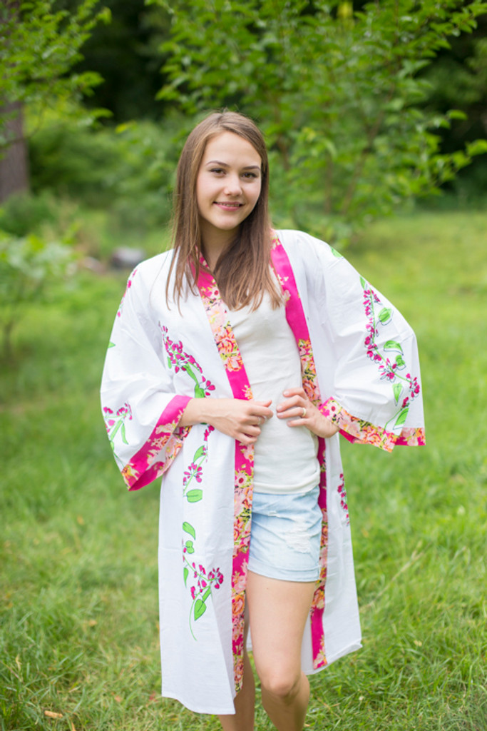"""Free Bird"" Kimono jacket in Climbing Vines pattern"