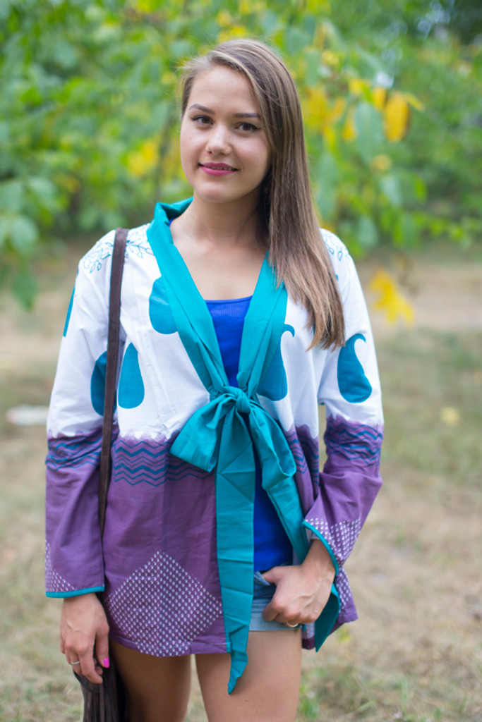 """""""Bow and Me"""" Kimono jacket in Perfectly Paisley pattern"""