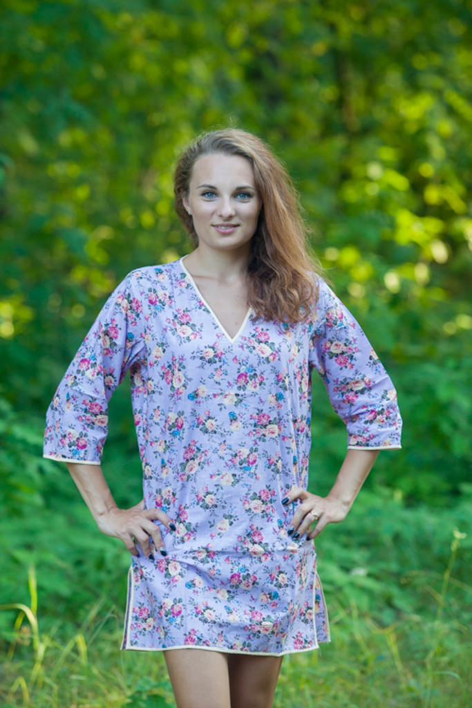 """""""Sun and Sand"""" Beach Tunic in Vintage Chic Floral pattern"""