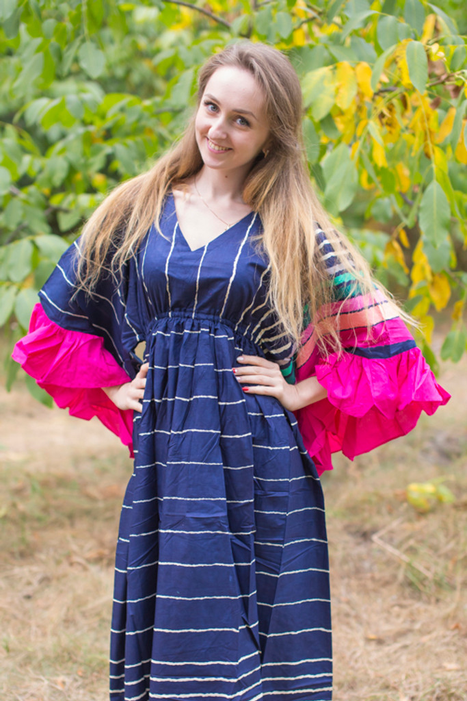 """Pretty Princess"" kaftan in Multicolored Stripes pattern"