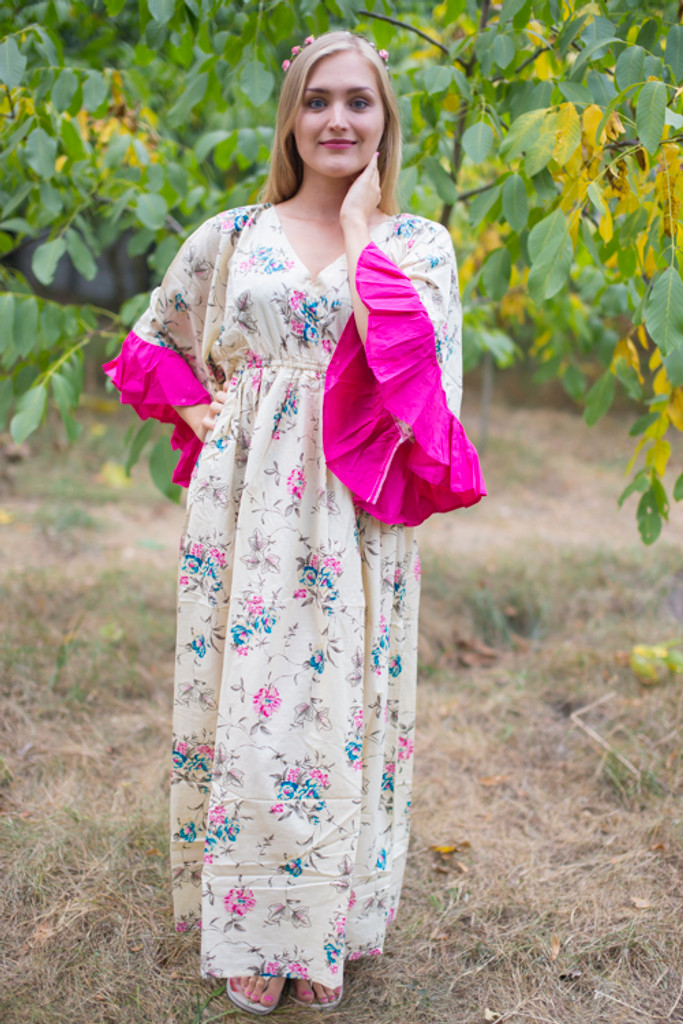 """Pretty Princess"" kaftan in Romantic Florals pattern"