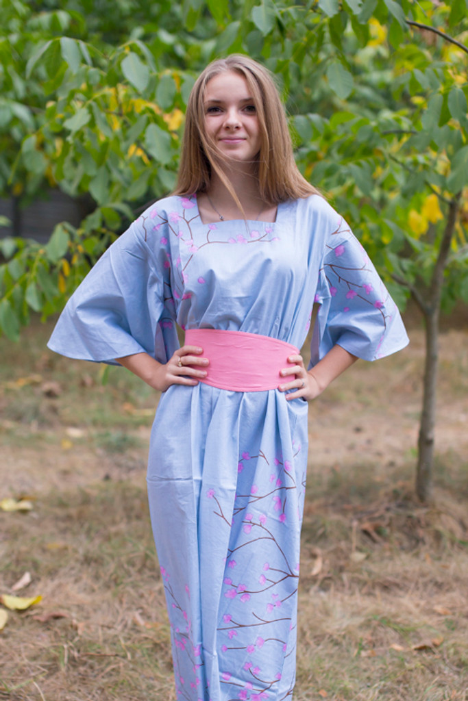 """""""Beauty, Belt and Beyond"""" kaftan in Cherry Blossoms pattern"""