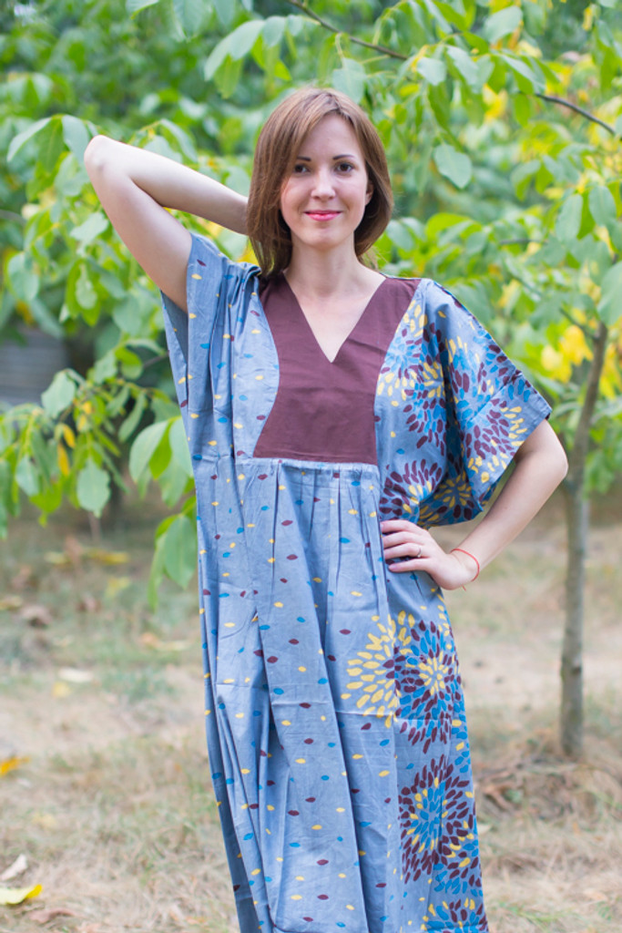 """""""Flowing River"""" kaftan in Abstract Floral pattern"""