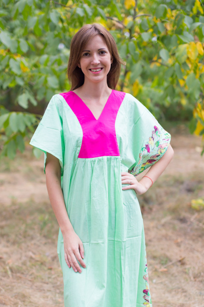 """Flowing River"" kaftan in Little Chirpies pattern"