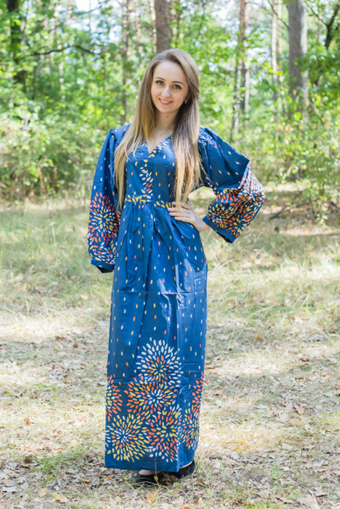 """""""My Peasant Dress"""" kaftan in Abstract Floral pattern"""