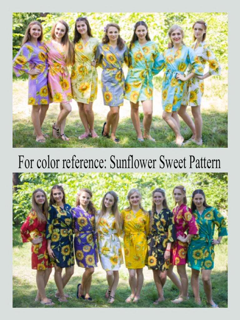 """My Peasant Dress"" kaftan in Sunflower Sweet pattern"