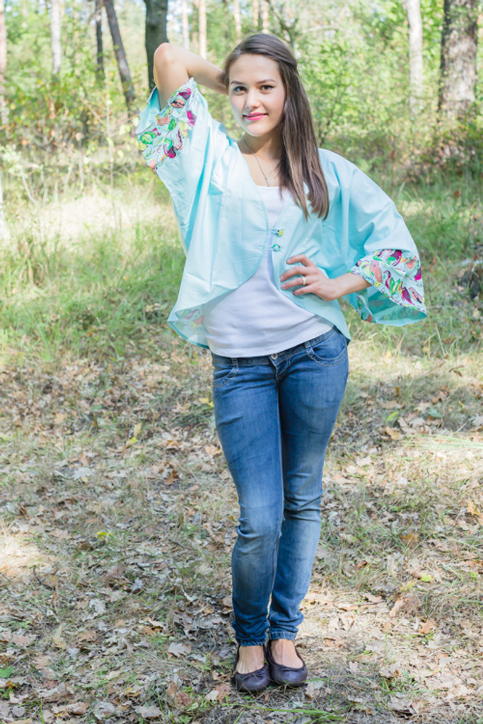 """Fly towards Glory"" Kimono jacket in Little Chirpies pattern"